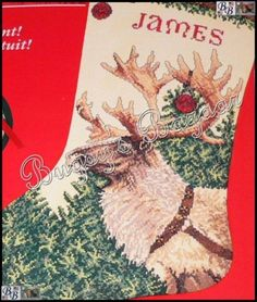 Needle Treasure DASHER Counted Cross Stitch Christmas Stocking & Ornament Kit #NeedleTreasuresJCA