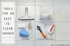 Tools for an Easy-to-Clean Shower via Clean Mama