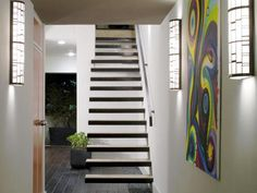 DIYNetwork.com gives you ideas for floating staircases.