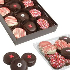 Chocolate-Covered Oreo® Cookies with XOX & Love Candies