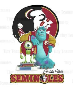 Monsters University Inspired Florida State Seminoles - Digital File - Any Team Available by special request