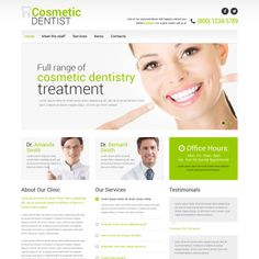 Website Template for Dentistry Website