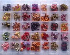 quilling . colourful. earrings.
