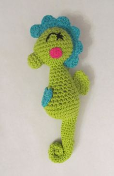 CROCHET PATTERN: Amigurumi Seahorse - stuffed toy - permission to sell finished items - digital download $3.99