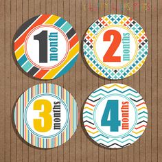 Monthly Milestone Stickers for Boys Monthly by happyhoursprints, $8.99