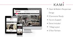 KAMI is a Magazine/Blog theme with a clean design and modern look. It is well suited for magazine, news, editorial, blog, photography or review site.  The theme is very flexible and super easy to use. It is packed with tons of features and custom widgets. We hope you will enjoy it and have a good time publishing your articles. And don't hesitate to ask us for help, we love supporting our customers.