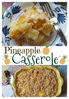 Pineapple Casserole, Southern Cooking, Crackers, Cheese, Side Dish, Delicious, Easy Recipe, Holidays, Thanksgiving, Christmas #christmasrecipes
