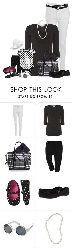 """Mommy and Me   black and white"" by kurlyglamour ❤ liked on Polyvore featuring Jane Norman, Dorothy Perkins, Uniqlo, Gymboree, Rocket Dog and Roxy"