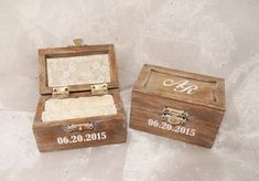 Personalized Initials and Date Wedding Ring by CraftyWitchesDecor