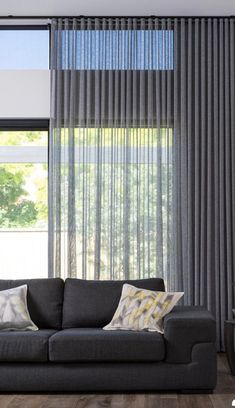 4 Marvelous Unique Ideas: Bamboo Blinds Living Room blinds for windows with curtains.Blinds For Windows Sliders dark blinds simple.Livingroom Blinds And Curtains. Living Room Modern, Living Room Interior, Living Room Decor, Curtain Ideas For Living Room, Dining Room, Home Curtains, Modern Curtains, Modern Blinds, Contemporary Curtains