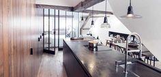 Apartamento minimalista con toques rústicos - http://www.decoora.com/apartamento-minimalista-con-toques-rusticos/