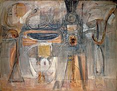 NGA | Mark Rothko | myths & symbols -- Mark Rothko, Rites of Lilith,1945, Collection of Kate Rothko Prizel  The first appearance of large-scale canvases such as Rites of Lilith heralds another significant change in Rothko's work.
