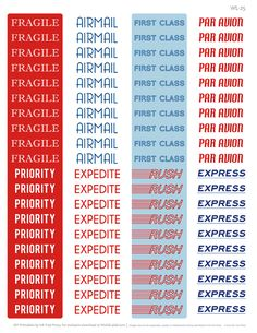 At some point in our lives we will have to send a letter or a parcel overseas via airmailHere Erin Rippy of InkTreePress.com has design a wonderful Par Avion collection of labels for all your envelopes and packages to be sent overseas via Air Mail - yes making them look ...