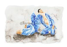 Jiu-jitsu Armlock - Watercolor Paint Art Print by karinabpedroso Flamingo, Watercolor, Jiu Jitsu, Painting, Shop, Art, Saint George, Giraffe Illustration, Pen And Wash