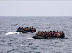 Muslim Invasion of Europe, 2015. Amphibious elements arrive from the coast of Turkey to land on the Greek island of Lesbos. Greek defenders nowhere to be found. Assault continues unobstructed. Week of Sept 20, 2015.