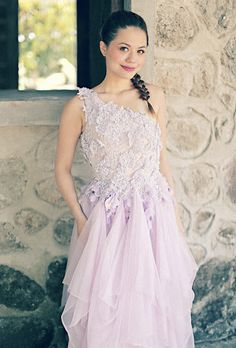 Purple Bridal Gown, anyone? Gown by Debbie Co, Styling by Miss Kayce Makeup by The Makeup of Mica Wedding In The Woods, Bridal Gowns, Pixie, Editorial, Formal Dresses, Purple, Makeup, Inspiration, Ideas