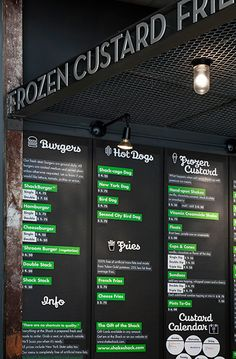 Menu board and environmental graphics at the Columbus Avenue location.