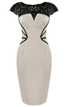 Vintage lady dresses with lace(2colors)_Dresses(d)_DESIGNER_Voguec Shop