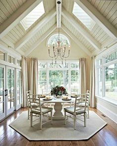 Southern living room #Dining #Beams