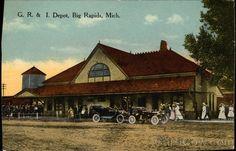 GR & I Depot Big Rapids Michigan