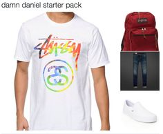 "People on the internet have taken the bizarre video and RUN WITH IT. For instance, there's a ""Damn Daniel"" starter pack (complete with white Vans, of course)… 