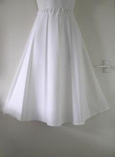 VTG 70s Do 50s DAMART Fit Flare Full SunRay Pleated Long Midi Summer Skirt 10 12   02.70