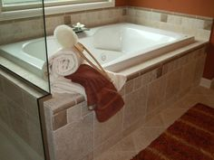 Tile Tub Surrounds | New Home Ideas | Tile Master Bath Ideas | New Homes Raleigh NC