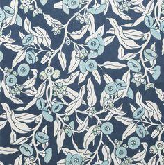350gsm Linen/Cotton Upholstery Fabric, Mallee Gum - Indigo