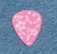 Girls Rock flowers guitar pick medium gauge #HotPicks #GuitarPick