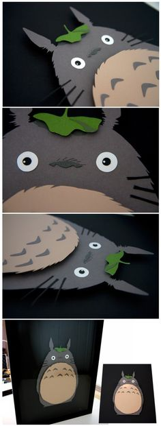 3D Hand Cut Paper craft! Yes this is what I like to see, mini examples how to do it!