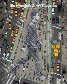 WALKING NEW YORK - UN COLLAGE EN COUVERTURE DU NEW YORK TIMES MAGAZINE   JR - Artist