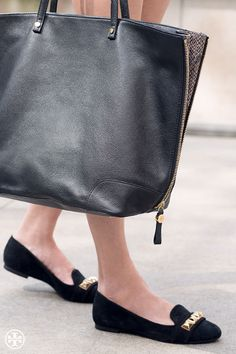Total stud: Tory Burch Asher Smoking Slipper & Clay Tote