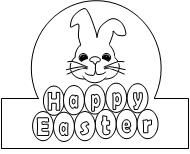 Happy Easter Crown activity found at www.makinglearningfun.com.