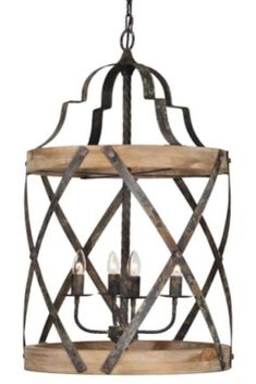 Farmhouse chandelier woven metal and wood 4 bulb pendant light fixture Farmhouse Light Fixtures, Farmhouse Chandelier, Kitchen Chandelier, Farmhouse Lighting, Kitchen Lighting, Dining Lighting, Transitional Chairs, Transitional Lighting, Transitional Living Rooms