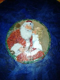 Altered cd Natale decoupage