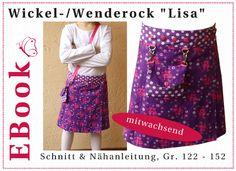 "EBook Wickel-/Wenderock ""Lisa"" (Gr. 122-152) von winfine auf DaWanda.com"