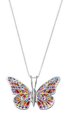 Millefiori butterfly necklace by Adina Plastelina.