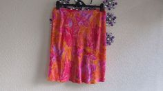 B H S CORAL PATTERNED SUMMER  SKIRT,  SIZE 18, NEW.