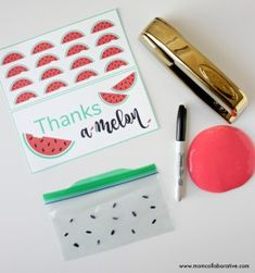 DIY party favors for a watermelon party, free water melon party favor printable, watermelon party ideas, watermelon party decorations, watermelon party theme, Watermelon slime