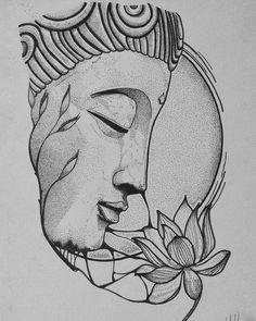 Buddha Drawing, Buddha Painting, Buddha Art, Mandala Art, Tattoo Buddhist, Photographie Street Art, Buddha Tattoo Design, Art Drawings Sketches Simple, Tattoo Sketches