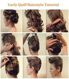 Curly Quiff Hairstyle Tutorial