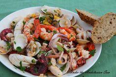 Andalusian auringossa-ruokablogi: Salpicon de Marisco - marinoituja äyriäisiä