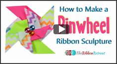 Learn how to make a Pinwheel Ribbon Sculpture that is a simple and sweet hair accessory. Embellished with a cute button or gem, this pinwheel is stunning. Ribbon Hair Bows, Diy Hair Bows, Diy Ribbon, Ribbon Crafts, Bow Hair Clips, Diy Headband, Headbands, Ribbon Retreat, Hair Bow Tutorial
