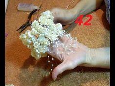 Diy Lace Ribbon Flowers, Organza Flowers, Fabric Ribbon, Crochet Flowers, Fabric Flowers, Paper Flowers, Kanzashi Tutorial, Flower Tutorial, Flower Video