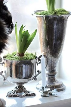 "Antique Silver ""Pots"""