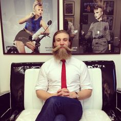 beautiful thick full blonde beard and a very epic long mustache blond beards bearded man men mens' style handsome stylish goldenboy #sharpdressedman #beardsforever