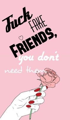 """Wallpaper//Lookscreen """"Fuck Fake Friends, you don't need them"""" ♡ HD gratuit – funny wallpapers backgrounds Fake Wallpaper, Queens Wallpaper, Phone Screen Wallpaper, Cute Wallpaper For Phone, Cute Wallpaper Backgrounds, Funny Wallpapers, Aesthetic Iphone Wallpaper, Wallpaper Quotes, Music Wallpaper"""