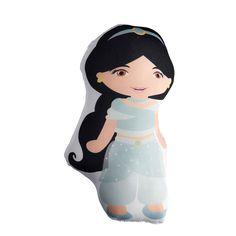 Muñeca Princesa Jasmín Grande Muñeca inspirada en la Princesa Jasmínde Disney. Ideal para dar de souvenir y/o decorar la fiesta,también los podes usar como centro de mesa. Nuestros diseños 100% originales son garantía de originalidad en tu fiesta. También es una excelente