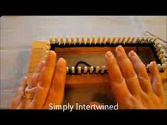 How To Do The Figure 8 Stitch (or Fishnet Stitch) In A Round - YouTube Loom Knitting Stitches, Knifty Knitter, Knitting Videos, Loom Patterns, Beading Tutorials, Yarn Crafts, Tatting, Knit Crochet, Weaving