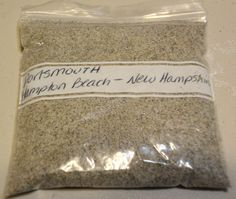 Hampton Beach Portsmouth New Hampshire 4oz Beach Sand Sample | eBay